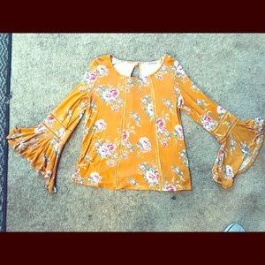 Bell sleeve Boho blouse